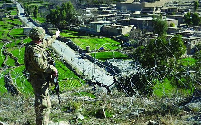 A member of the 307th Expeditionary Signal Battalion helps support operations in Afghanistan. Having ended its Southwest Asia deployment in September, the battalion is preparing for other operations as the U.S. military increases its presence in the Asia-Pacific region.