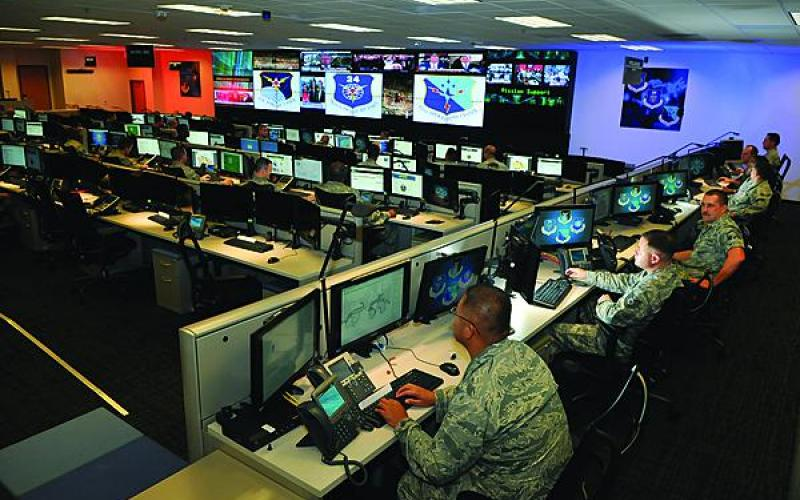 U.S. Air Force personnel conduct cyber operations in an exercise at Joint Base San Antonio-Lackland. The Air Force is looking to restructure both its cyber organization and its cyber operations to account for changes in the virtual domain.