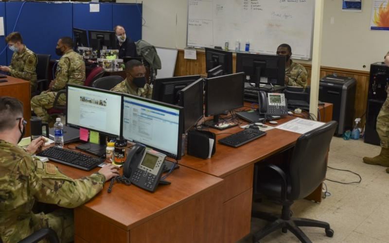 The Defense Information Systems Agency (DISA) is developing robotic process automation solutions to automate some computer security authorization processes, which will reduce workloads and offer efficiencies to warfighters, such as to the airmen from the 4th Communications Squadron at Seymour Johnson Air Force Base, North Carolina, who are responsible for authorizing and supporting about 7,000 computer users at the base.  U.S. Air Force photo by Airman 1st Class Kimberly Barrera