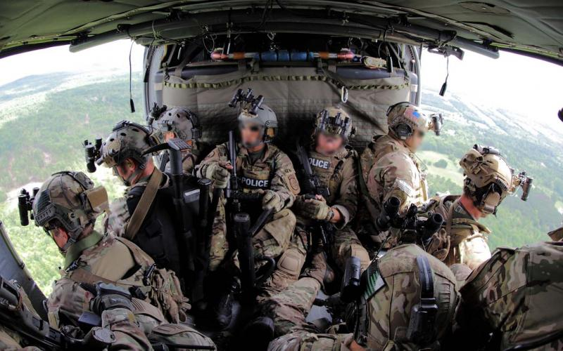 A U.S. Border Patrol Tactical Unit rides aboard an Office of Air and Marine UH-60 helicopter. Homegrown terrorism has moved to the top of the threat list at the Department of Homeland Security (DHS).