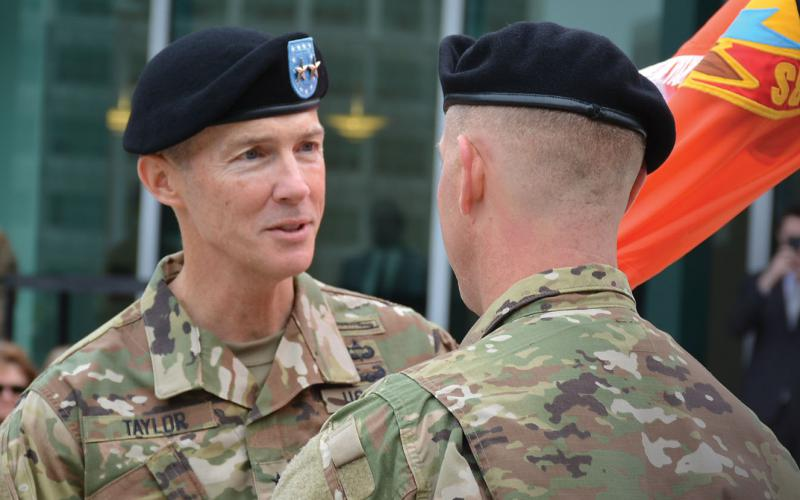 Maj. Gen. Randy Taylor, USA, commanding general, U.S. Army Communications-Electronics Command, and senior commander of Aberdeen Proving Ground, is working to improve the Army's readiness.