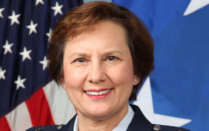 Maj. Gen. Sandra Finan, USAF, serves as the deputy CIO for C4 and information infrastructure capabilities.