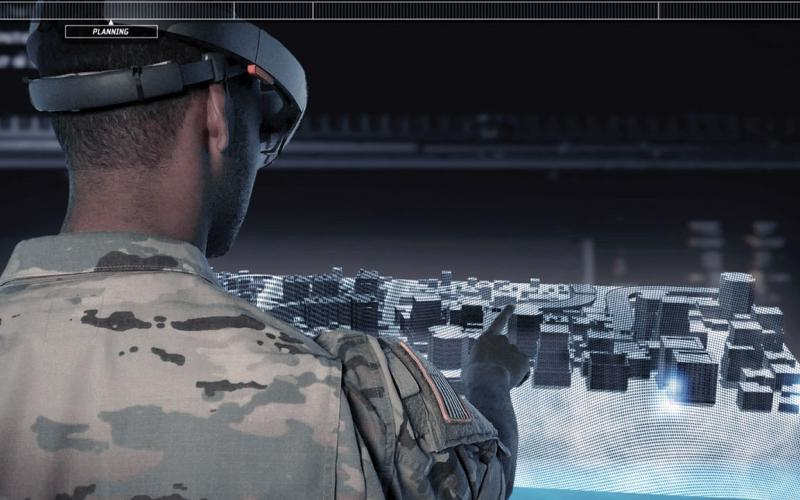 Data-rich 3D maps would let soldiers spend time viewing terrain from a variety of perspectives to gain an intuitive sense of the battlespace before megacity operations. Courtesy photo