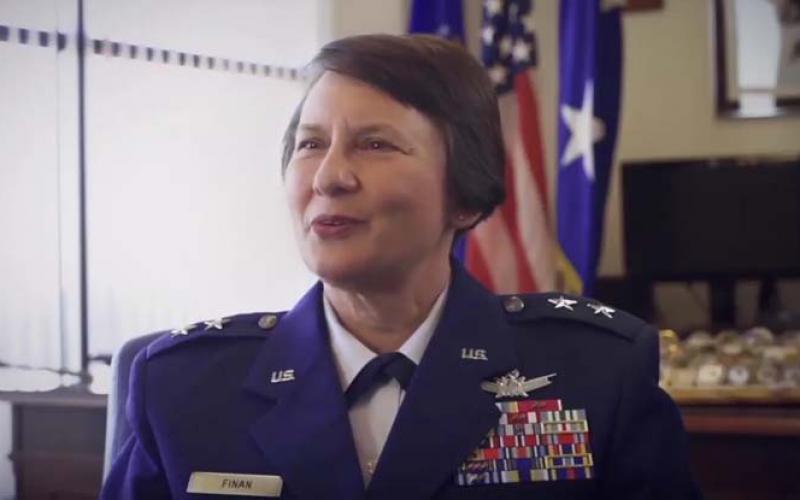 Maj. Gen. Sandra Finan, USAF, discusses her unique path, barriers she helped break and future opportunities that exist for women in the Air Force.