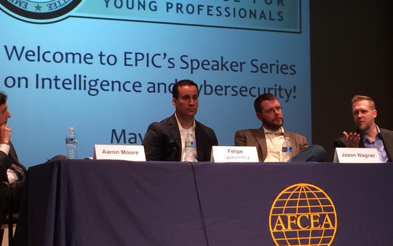 Intelligence and cybersecurity experts discuss emerging cyber threats at an AFCEA EPIC presentation, with growing concern over wearables and the Internet of Things.