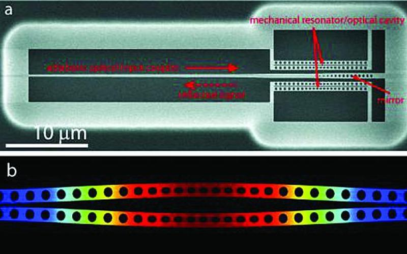 A silicon micromechanical resonator is used to generate squeezed light in the Defense Advanced Research Projects Agency's (DARPA's) Optical Cooling and Heating in Integrated Devices, or ORCHID, program. This effort aims to improve the performance of microelectromechanical systems (MEMS), which will play a major role in future commercial and military sensors.