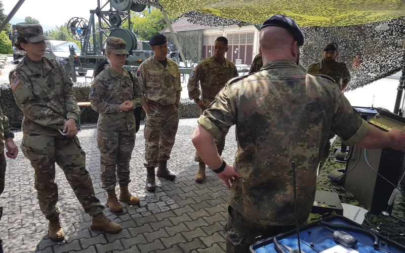 U.S. military personnel participate in a German cyber/information technology exercise, or CITEF. Credit: Bundeswehr