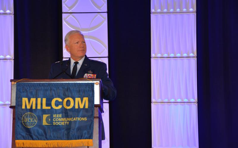 Lt. Gen. John Thompson, USAF, commander, Space and Missile Systems Center and commander, Air Force Space Command, is emphasizing a renewed interest in international partnership to help shoulder the cost of and bring innovation to the U.S. military's satellite communications.