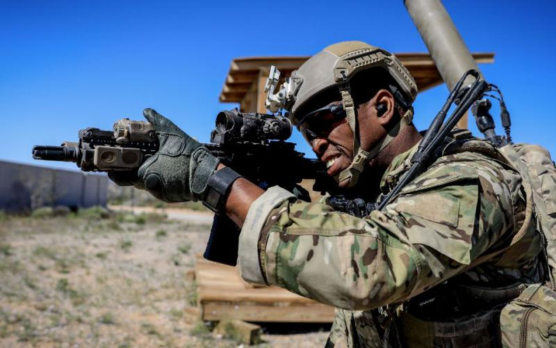 A soldier assigned to the 3rd Special Forces Group (Airborne) takes part in a training exercise in New Mexico. AI advances will alter the way individual soldiers collect and receive intelligence. U.S. Army photo