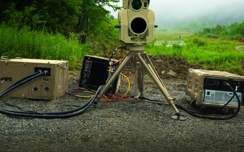 Boeing's compact laser weapons system is designed to be small but effective. Boeing