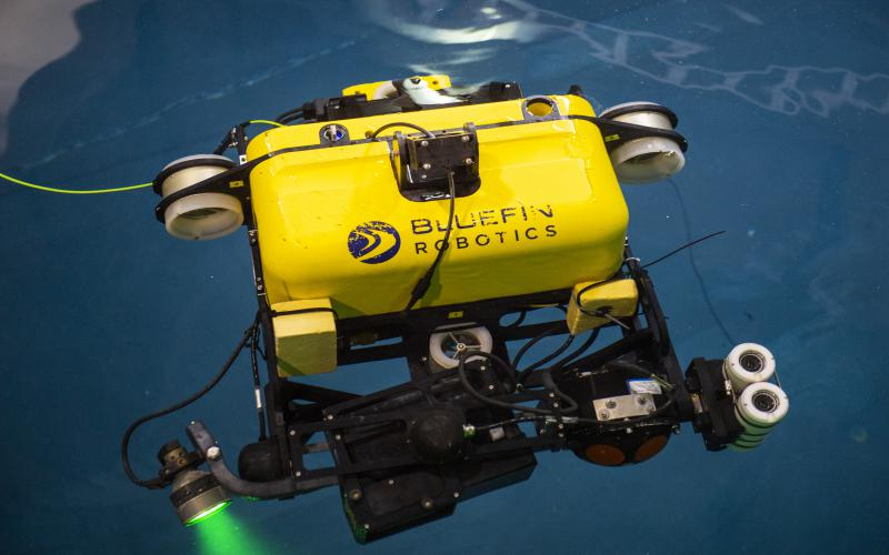 Carnegie Mellon University's new water tank provides a setting to perform basic testing of aquatic robots.  Carnegie Mellon University/Michael Henninger