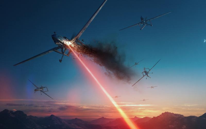 The Air Force envisions lasers that will defend against swarming unmanned aerial vehicles. Lockheed Martin Corporation