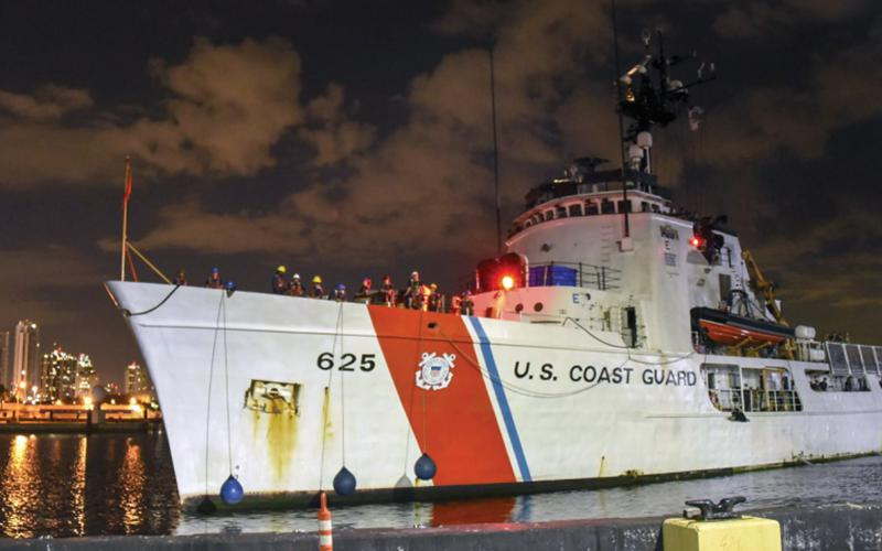 The Coast Guard faces bandwidth challenges, and the service is looking at how to optimize applications on smaller ships.