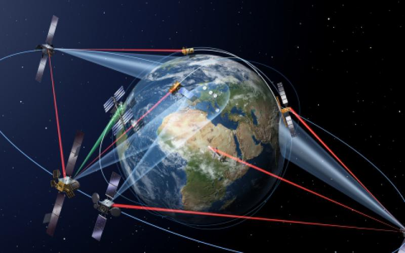 Europe has a laser communications system in operation, the SpaceDataHighway. Credit: Airbus