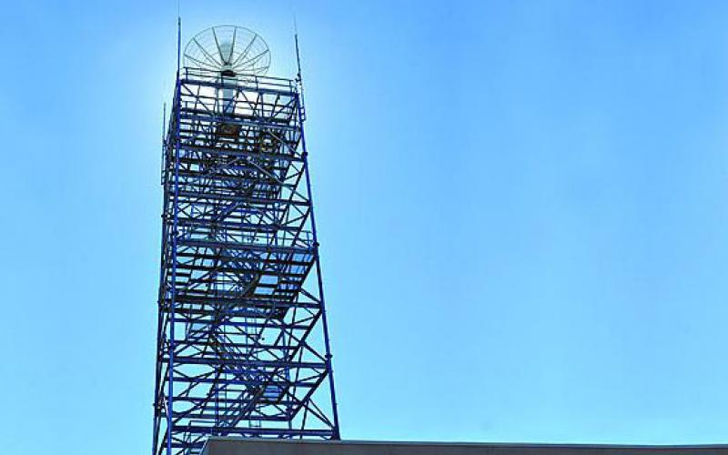 Three 100-foot towers at Wright-Patterson Air Force Base, Ohio, provide the Air Force Research Laboratory Sensors Directorate with new capabilities to perform radar research. The actual radars atop each tower were relocated from Rome, N.Y., as part of the 2005 Base Realignment and Closure.