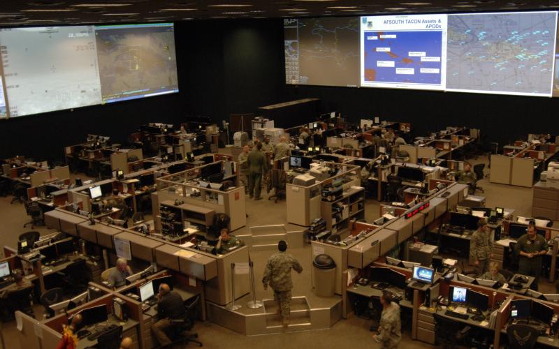 The 612th Air Operations Center provides command and control of air power in the United States Southern Command's area of responsibility. Researchers are exploring whether air operations personnel are more likely to spot changes on their screens when working alone or as a team.