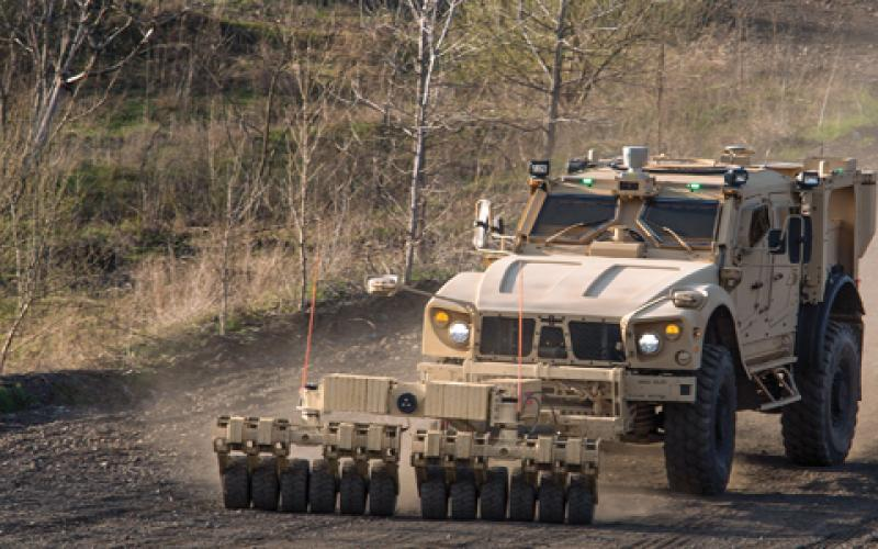 The TerraMax unmanned ground vehicle technology can be used on any tactical wheeled vehicle and is capable of supervised autonomous navigation in either a lead or follow role.