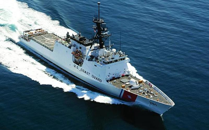 The USCGC Waesche, the second of the National Security Cutter class, was outfitted in 2013 with a suite of technologies procured under the Coast Guard's C4ISR project.
