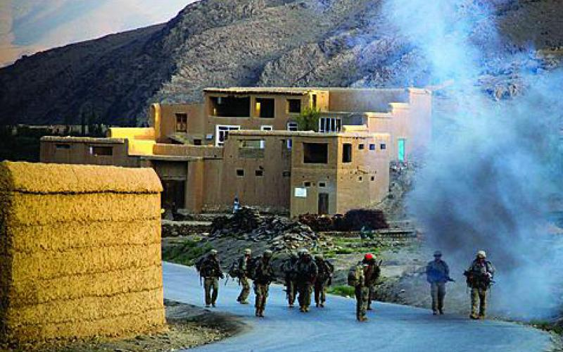 U.S. Army soldiers from the 3rd Brigade Combat Team, 10th Mountain Division, patrol the Tangi Valley in the Wardak province of Afghanistan in 2009. The 3rd and 4th Brigade Combat Teams will return to Iraq with Capability Set 13 technology.