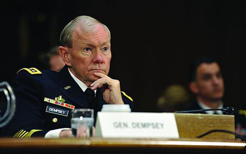 Chairman of the Joint Chiefs of Staff Gen. Martin Dempsey, USA, appears before the Senate Armed Services Committee. Pentagon leaders have a short window of opportunity to reconcile strategy to the current budget realities, according to analysis by the Center for Strategic and Budgetary Assessments.