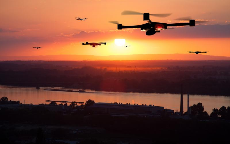 In the future, drones may extend wireless networks to remote locations or augment damaged communications infrastructure following disasters.  aerogondo2/Shutterstock