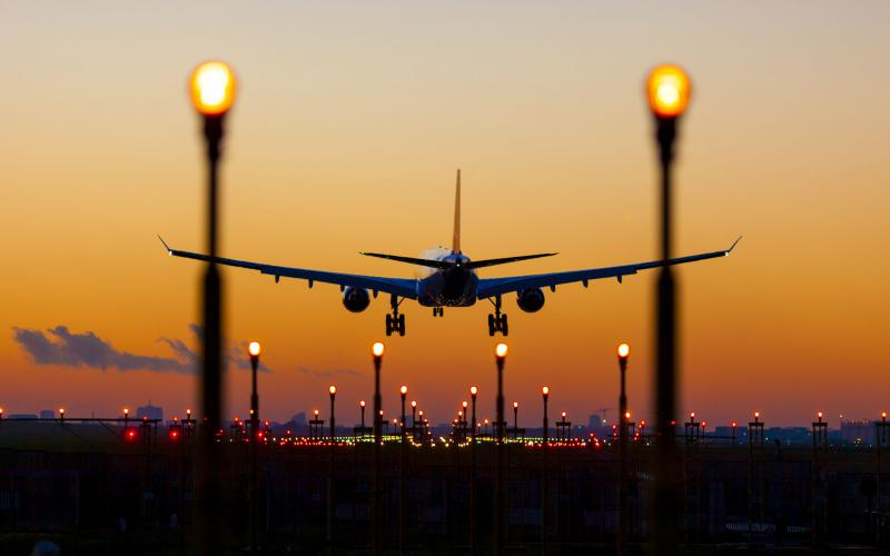 Airports and other transportation services depend on positioning, navigation and timing systems, such as GPS. Credit: Shutterstock/Guido Benedetto​