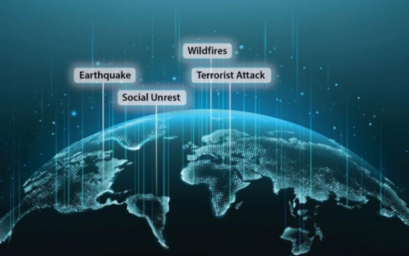 The artificial intelligence software provided by Stabilitas Intelligence Communications is designed to warn organizations of disruptive global or local events, including natural disasters, social unrest, political upheaval, or terrorist attacks, predict the results on the clients' organization and operation, and help develop a response plan.  Vit-Mar/Shutterstock