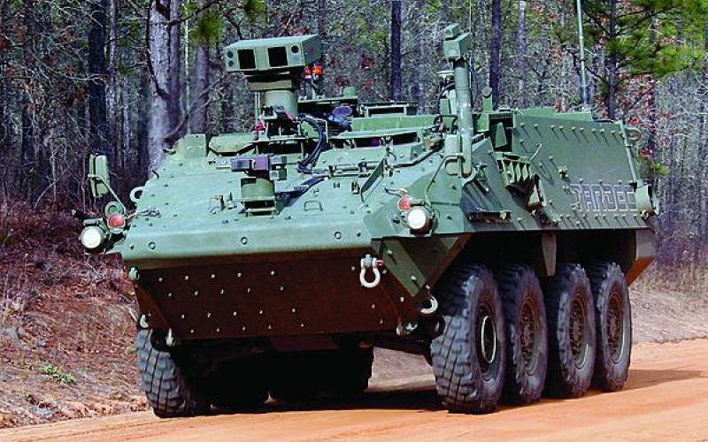 Within the next five years, U.S. Army convoys could include some unmanned vehicles, such as the robotically-driven Stryker, which has been tested at Fort Gordon, Georgia, for convoy operations.
