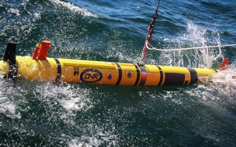 Members of the Office of Naval Research launch the REMUS 600 autonomous underwater vehicle for mine search and identification operations off the coast of Bornholm Island in support of exercise Baltic Operations (BALTOPS) in June 2018. BALTOPS is the premier annual maritime-focused exercise in the Baltic Region and one of the largest exercises in Northern Europe enhancing interoperability among allied and partner nations.  U.S. Navy photo by Chief Mass Communication Specialist America Henry/Released