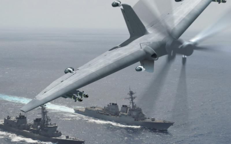 The Tactically Exploited Reconnaissance Node, aka Tern, is an unmanned aerial system (UAS) that can launch and land vertically. Photo illustration by DARPA