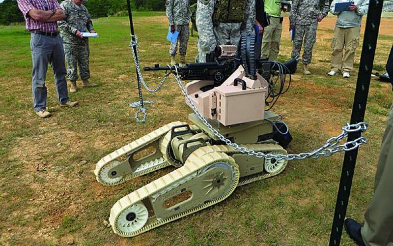 The goal of the Army's Robotics Limited Demonstration, held by the U.S. Army Maneuver Center of Excellence at Fort Benning, Georgia, was to get a snapshot of the state of the art in unmanned ground systems (UGVs), such as this Irobot 710 Warrior UGV.