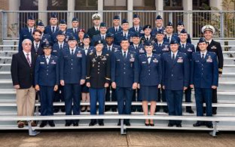 The rigorous year-long Joint All-Domain Strategist course at the Air Command and Staff College at Maxwell Air Force Base in Montgomery, Alabama, has grown in size and importance over the last several years. Students from the 2017-2018 course pose with their instructors.  Air University Public Affairs Photo by Airman 1st Class Charles Welty