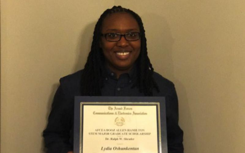 Lydia Oshunkentan is pursuing a Master of Science in information security.