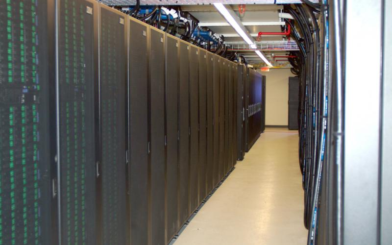 The ARL IBM iDataPlex Supercomputing system known as 'Pershing' has over 20,000 processors and a peak capability of 420 TeraFlops (or trillions of floating point operations per second).