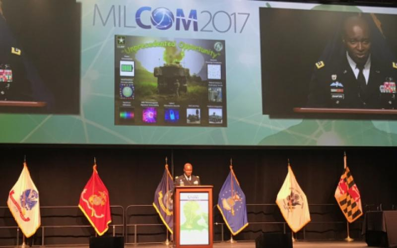 As part of its information technology modernization effort, the U.S. Army aims to harness agile software development and cut software patching costs and software lines, says Lt. Gen. Bruce Crawford, USA, the Army's chief information officer (CIO)/G-6, at MILCOM 2017 in Baltimore.