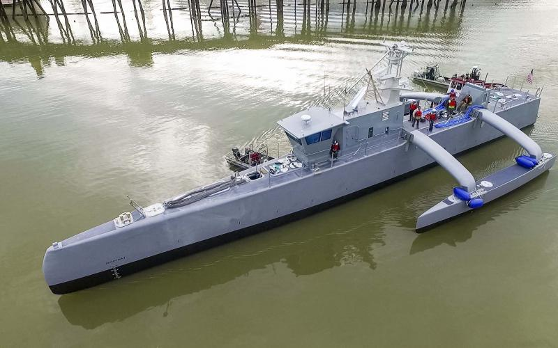 The construction cost for DARPA's Sea Hunter unmanned prototype is roughly $23 million, and will cost $15,000 to $20,000 a day to operate.