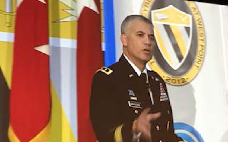 Lt. Gen. Paul Nakasone, USA, commanding general, U.S. Army Cyber Command, speaks at CyConUS 2017.