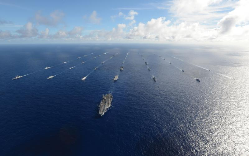 More than 40 ships and submarines representing 15 international partner nations sail in formation during this year's Rim of the Pacific (RIMPAC) exercise. For the first time, the People's Republic of China joined 21 other nations participating in RIMPAC.