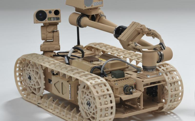 ARL researchers are working with industry to develop robots that can right themselves without human assistance. The technology is being applied to this Advanced Explosive Ordnance Disposal Robotic System Increment 1 Platform.