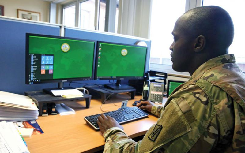 The Army Research Laboratory's research efforts into cyber resiliency include development of autonomous self-monitoring systems that do not require network experts to follow cyber activities around the clock without assistance. Credit: U.S. Army