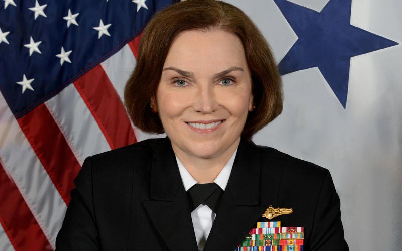 Rear Adm. Kathleen M. Creighton, USN, is the deputy commander, JFHQ-DODIN.