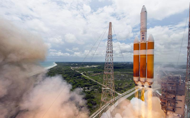 A United Launch Alliance Delta IV-Heavy rocket launches a National Reconnaissance Office payload into orbit from Cape Canaveral. While the U.S. intelligence community will continue to rely on government space assets, it will increasingly tap the commercial sector for innovative products and services.