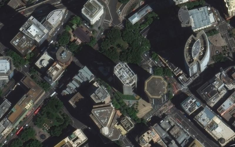 A DigitalGlobe WorldView-3 satellite image of Sydney shows the variety of buildings dotting the landscape. Among the artificial intelligence (AI) research sponsored by the Intelligence Advanced Research Projects Activity (IARPA) is an AI program designed to determine the functions of buildings just from looking at overhead imagery.