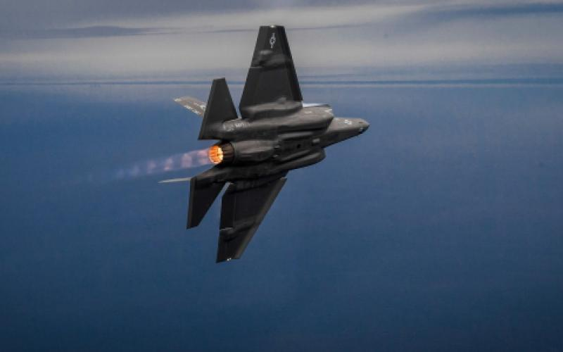 A U.S. Navy F-35C Lightning II trains over Florida for carrier-based operations. The F-35C, virtually a flying sensor platform in addition to a combat aircraft, will be an important contributor to Navy data as the sea service ramps up its information warfighting capabilities.  U.S. Navy photo