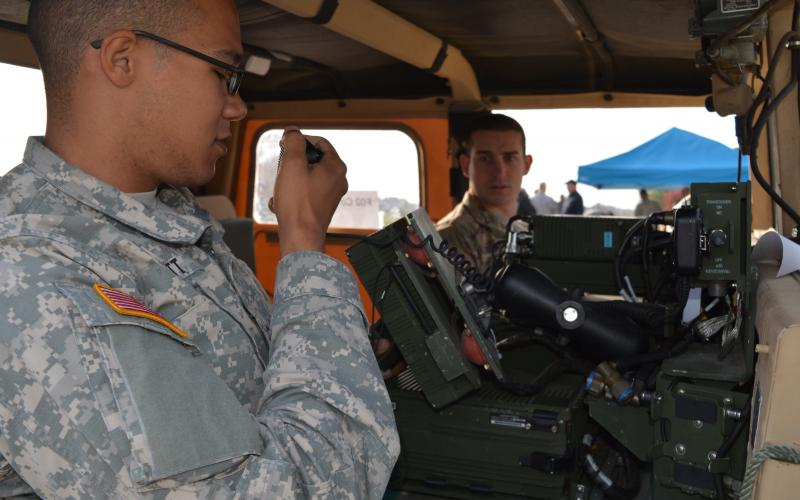 Soldiers conduct a customer test of a Manpack radio to see how its diverse capabilities perform under a variety of conditions. Future Manpack iterations will be lighter and consume less power, according to the Army's PEO C3T.