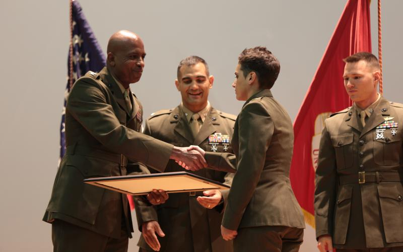 Marine corps communicators consolidate training signal magazine - Officer training school marines ...