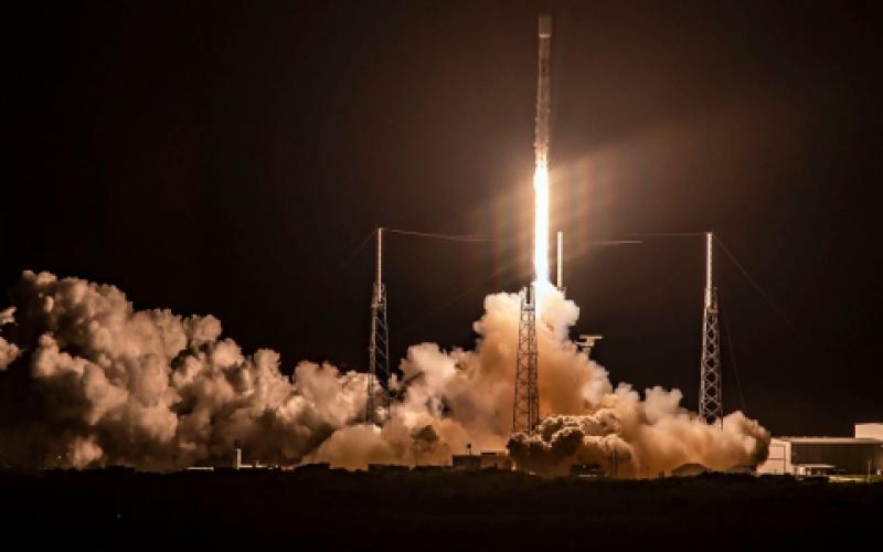 A SpaceX Falcon 9 rocket lifts off, carrying the company's StarLink low-earth-orbit networking satellites. Flooding near-earth space with hundreds of satellites is the future of orbital activities as satellite construction expenses and launch costs continue to come down.  SpaceX