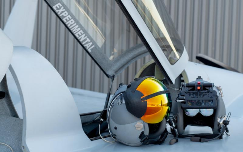 The ATARS augmented reality tool ultimately will offer 150 degrees of view, for fighter pilots training in the air.  Red6