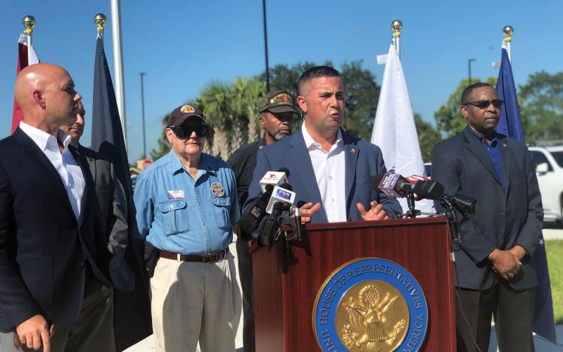 Rep. Darren Soto (D-FL), appearing together with Rep. Brian Mast (R-FL) at a Veteran's Administration hospital event in Florida, contends that Congress needs to address digital identity methods, which would support the use of blockchain.  Office of Rep. Soto