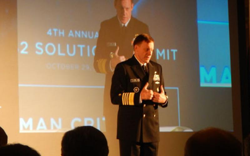 Adm. Michael Rogers, USN, director of the NSA and commander of U.S. Cyber Command, warns of an increase in number and sophistication of cyber attacks during Thursday's SAP NS2 Solution Summit.